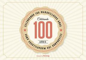 100º Aniversario Ilustração vetor