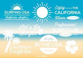 Conjunto de etiquetas de surf vetor