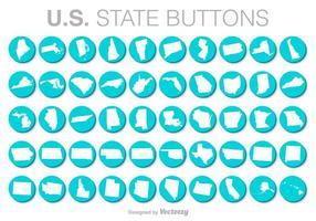 Botões do vetor dos Estados Unidos