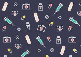 Vector de padrão médico gratuito