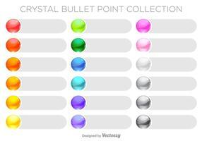 Jogo colorido de pontos de bala colorido vetor