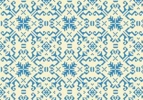 Costurando padrão azul vetor