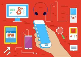 Dispositivos vetoriais multimídia gratuitos vetor