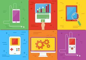 Elementos de vetor de mídia digital grátis