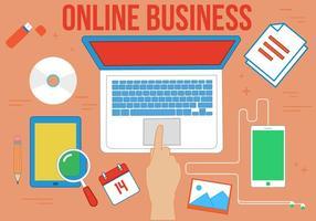 Negócio Online Gratuito de Vetores