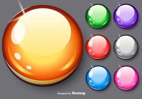 Conjunto de esferas brilhantes de vetores