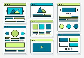Elementos de Web Design gratuitos com ícones vetoriais vetor