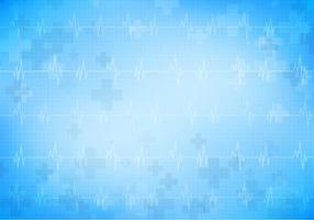 Fundo de vetores grátis médico com monitor de coração