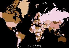 Mapa do mundo de alto detalhe do vetor