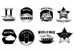 Conjunto de crachá da Segunda Guerra Mundial vetor