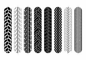 Marcas de pneu da motocicleta vetor