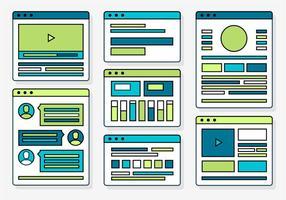 Elementos e ícones vetoriais gratuitos do Web Design vetor