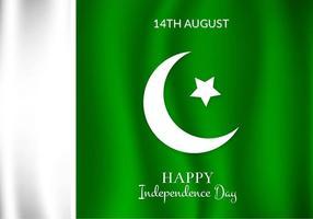 Bandeira livre do Paquistão do vetor