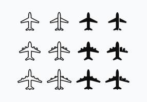 Vector de silhueta Avion grátis