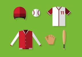 Equipamentos de baseball de vetores