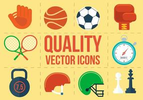 Ícones de esporte vetorial grátis vetor