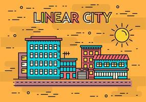 Ilustração vetorial grátis Linear City vetor