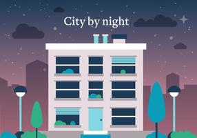 Cidade vector livre à noite