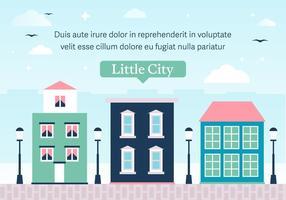 Pequena cidade vetorial livre vetor