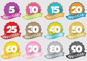Emblemas do aniversário