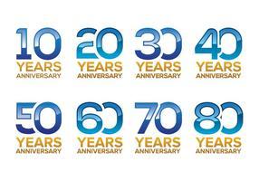 Pacote de vetores grátis para aniversários
