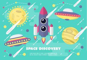 Ilustração vetorial da descoberta do espaço livre vetor