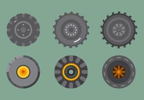 Vetor de pneu de trator livre 2