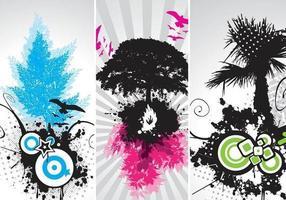 Arte moderna do vetor da árvore