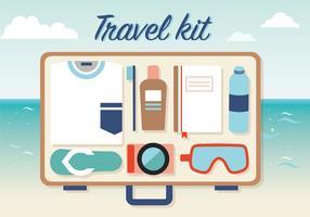 Vetor de kit de viagem grátis