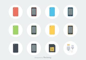 Ícones de vetores de smartphone gratuitos