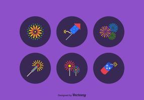 Jogo livre de ícones de vetores de fogo de artifício