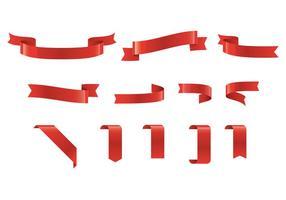 Vetor de faixa vermelha grátis