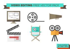 Pacote de vetores de edição de vídeo grátis