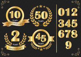 Aniversário Badges Vector