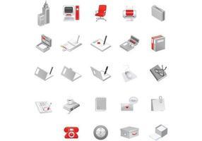 Pacote do vetor de 24 ícones do escritório