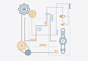 Engenharia de Relógio vetor