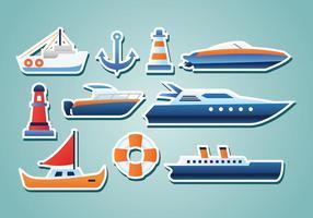 Etiquetas náuticas gratuitas vetor
