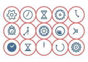 Conjunto de ícones do relógio vetor