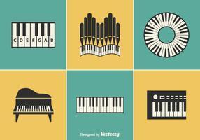 Desenhos de vetores de instrumentos de teclado gratuitos