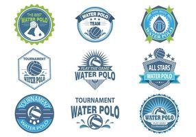 Etiquetas e etiquetas de water polo vetor