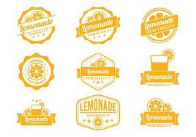 Vetores de crachá de limonada