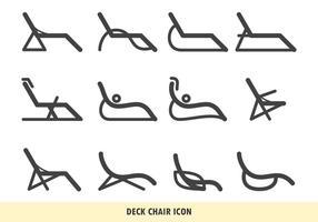 Ícone da cadeira de convés vetor