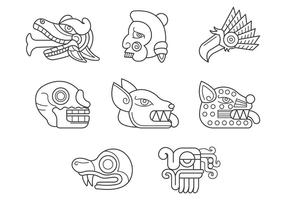 Vetor de símbolos quetzalcoatl