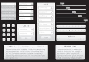 Kit de rede minimalista cinza