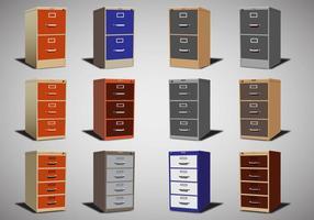 Conjunto de arquivo de gabinete de vetores