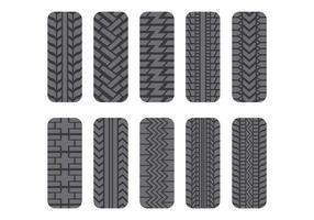 Pacote de ícones do pneu Tractor vetor