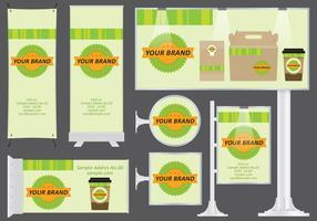 Banners de alimentos orgânicos vetor