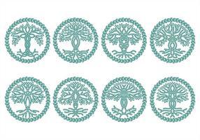 Ícones da árvore celta vetor