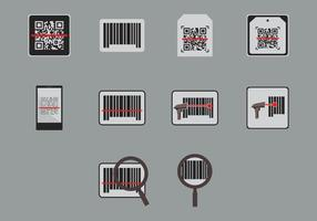 Ícone do scanner de código de barras vetor