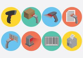 Vetor de ícones de scanner de código de barras grátis